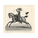 Woman Rider Losing Her Hat Because of Her Perruque (Wig)  1800