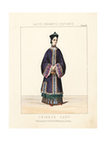 Costume of a Chinese Lady  19th Century