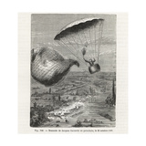 Jacques Garnerin Descends by Parachute from a Released Balloon