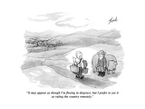 """It may appear as though I'm fleeing in disgrace  but I prefer to see it a…"" - Cartoon"
