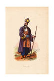 Dervish Man from Persia (Iran) Wearing Onion-Shaped Hat