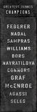 The Greatest Tennis Champions Giclée par The Vintage Collection