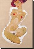 Squatting Female Nude