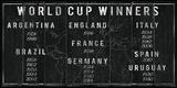 World Cup Winners Giclée par The Vintage Collection