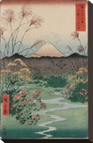 Otsuki Plain in Kai Province  from the series Thirty-six Views of Mount Fuji  1858
