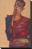 Self-Portrait with Eyelid Pulled Down  1910