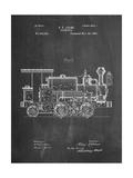 Train Locomotive Patent Reproduction d'art