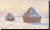 Wheatstacks  Snow Effect  Morning  1891