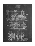 Steam Locomotive Patent Reproduction d'art