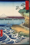 The Coast at Hota  from the series Thirty-six Views of Mount Fuji  1858