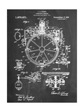 Compass Patent 1918 Reproduction d'art