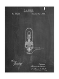 Thomas Edison Light Bulb Patent Reproduction d'art