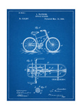 Bicycle Gearing Patent Reproduction d'art