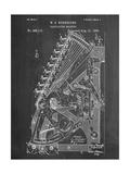 Vintage 1888 Calculator Patent Reproduction d'art