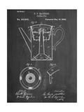 Vintage Coffee Pot Patent Reproduction d'art