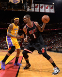 Jan 23  2014  Los Angeles Lakers vs Miami Heat - Jordan Hill  Chris Bosh