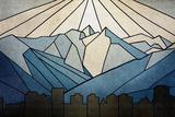 Geometric Mountain Reproduction d'art par Anna Polanski