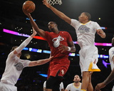 Dec 25  2013  Miami Heat vs Los Angeles Lakers - Chris Bosh  Wesley Johnson