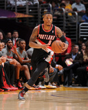 Apr 1  2014  Portland Trail Blazers vs Los Angeles Lakers - Damian Lillard