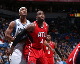 Mar 26  2014  Atlanta Hawks vs Minnesota Timberwolves - Paul Millsap  Dante Cunningham