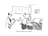 """Does this make me your bitch"" - New Yorker Cartoon"