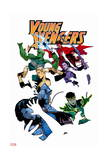 Young Avengers 5 Cover: Loki  Bishop  Kate  Noh-Varr  Wiccan  Hulkling  Ms America