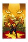 Captain Marvel 13 Cover: Captain Marvel  Spider Woman  Thor  Hulk  Black Widow  Captain America