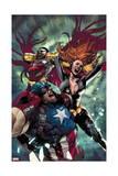 Avengers 15 Cover: Captain America  Black Widow  Falcon