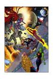 Ff 7 Cover: Ms Thing  She-Hulk  Ant-Man  Gorgon  Medusa  Black Widow  Captain America  Wizard