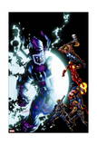 Cataclysm: the Ultimates Last Stand 1 Cover: Galactus  Thor  Iron Man  Captain America  Hawkeye