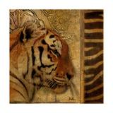 Elegant Safari II (Tiger) Giclée premium par Patricia Quintero-Pinto