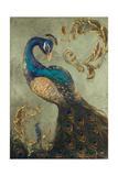 Peacock on Sage II Giclée premium par Tiffany Hakimipour