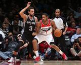 Feb 5  2014  San Antonio Spurs vs Washington Wizards - Trevor Ariza  Marco Belinelli