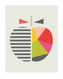 Geometric Apple Reproduction d'art par Little Design Haus