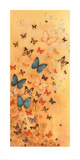 Butterflies on Warm Ochre