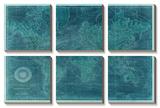 Azure World Map Tableau multi toiles par Vision Studio