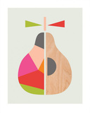 Geometric Pear Reproduction d'art par Little Design Haus