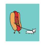 Hot Dog Walking Puppy