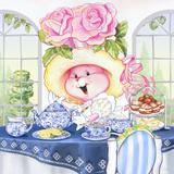 Rose Bonnet Tea Bunny at the Petite Palm Tea Room