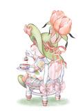 Tulip Petals Tea Bunny
