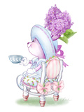 Lilac Ribbons Tea Bunny