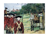 Execution of Nathan Hale by the British in New York on September 22  1776