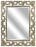Metallic Greek Key Rectangular Wall Mirror