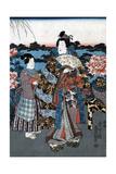 Japan: Woman in Garden