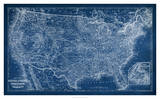US Map Blueprint