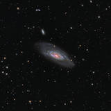 Messier 106  a Spiral Galaxy in the Constellation Canes Venatici