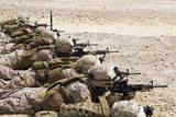 US Marines Conduct a Battlesight Zero their Rifles in Al Galail  Qatar