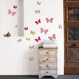 Colored Butterflies Mini Wall Decals