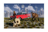 Sabre-Toothed Tigers Find a 1950's American Chevrolet and Signs of Civilization