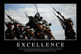 Excellence: Citation Et Affiche D'Inspiration Et Motivation